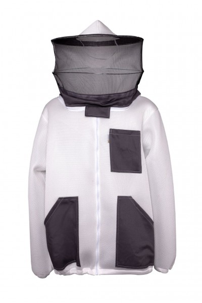 3D Luft-Imkerschutzjacke, Dreilagige mit Rundenhut und Schleier XL Größe