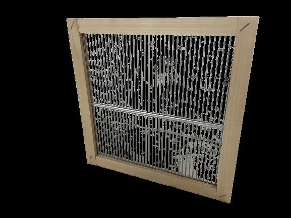 Absperrgitter in Holzrahmen für MiniPlus Beute - 280 x 280 mm Apisfarm