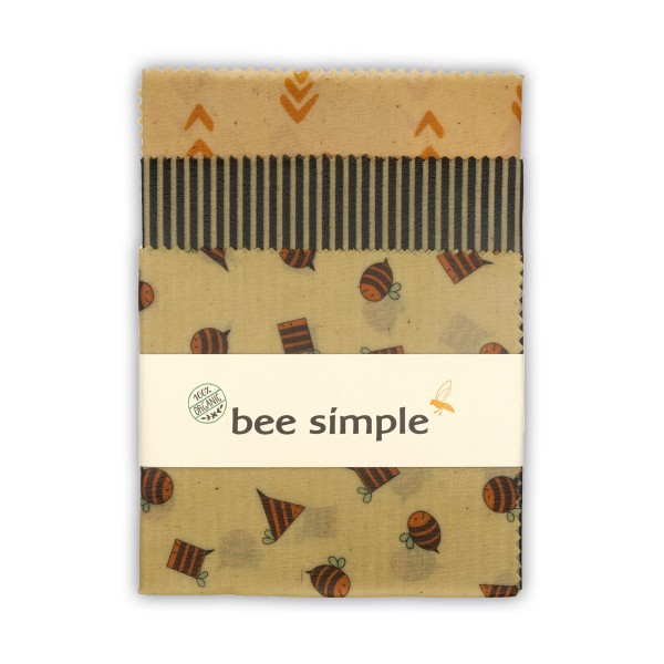 Bienenwachstuch- bee simple -XL groß organic