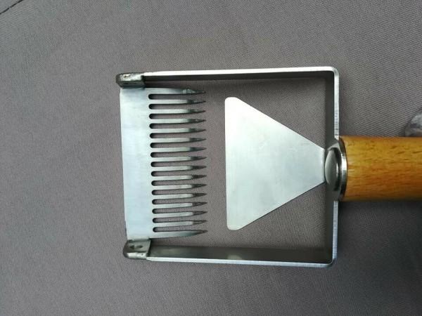 Apisfarm-Entdeckelungshobel-Entdeckelungsgabel,Uncapping fork,Honeyscraper- NEU
